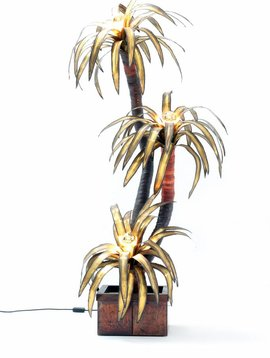Maison jansen Palm tree lamp