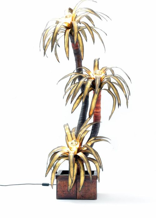 Maison jansen Palmboom lamp