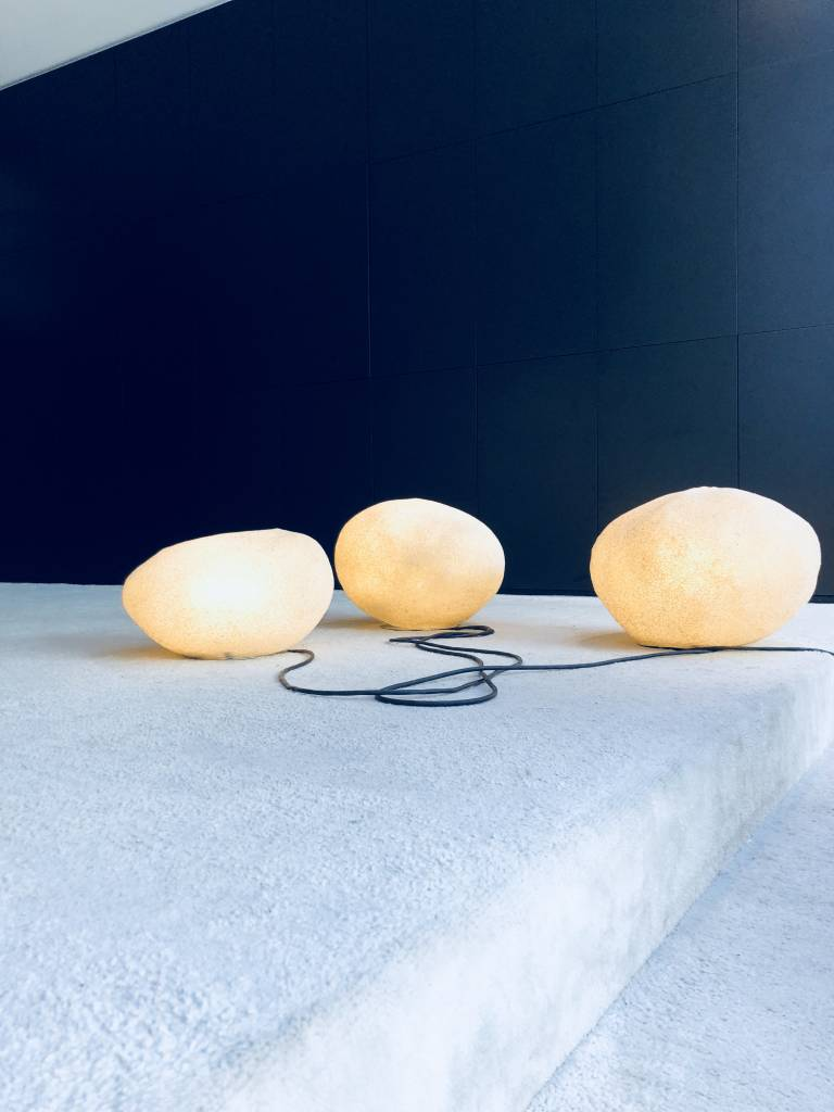 Vintage collection floor lamps by André Cazenave designed in 1969