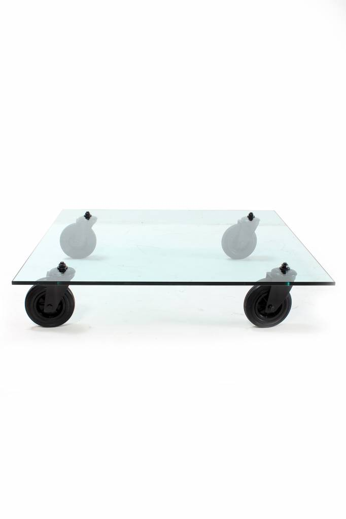 Fontana Arte coffee table Tavolo Con Ruote for sale