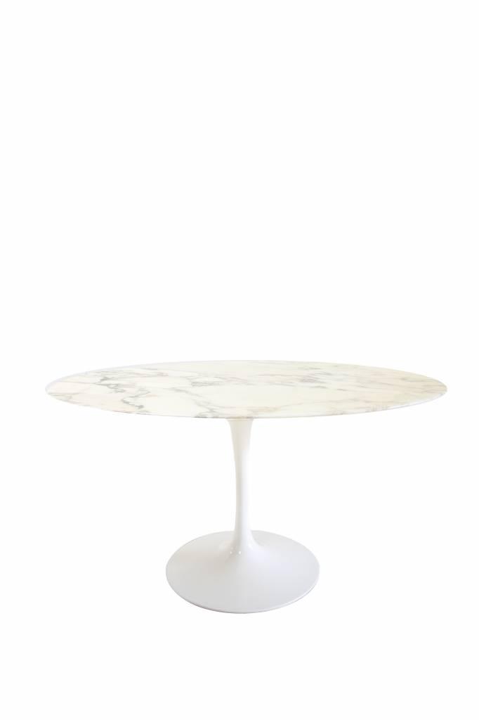 Ovals vintage Knoll tulip side table marble
