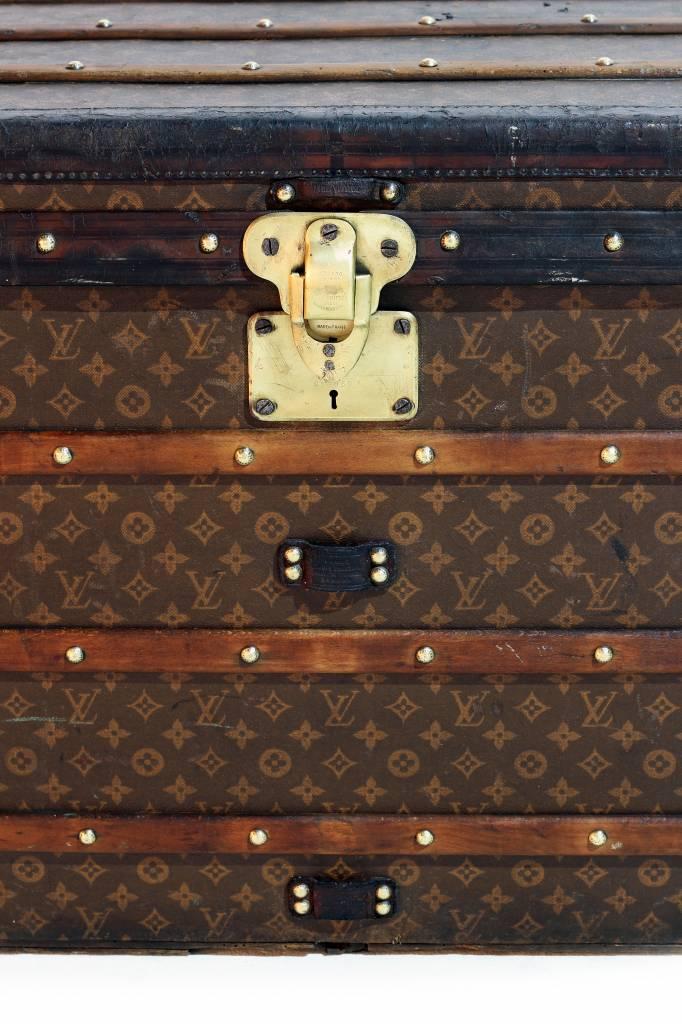 Vintage grote antieken Louis Vuitton koffer