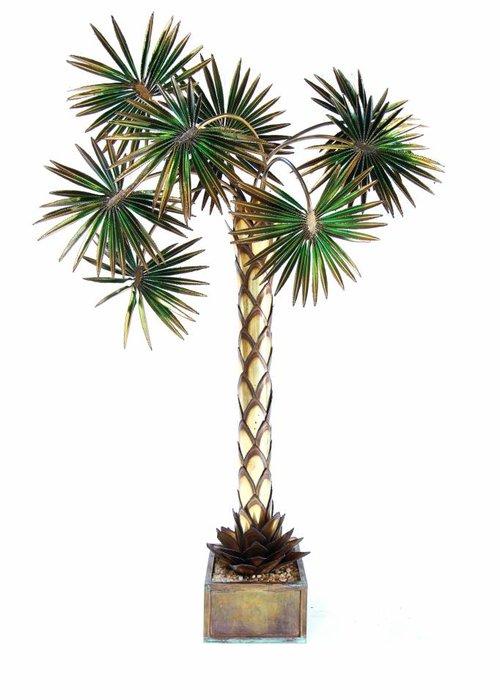 Palm tree lamp Maison Jansen