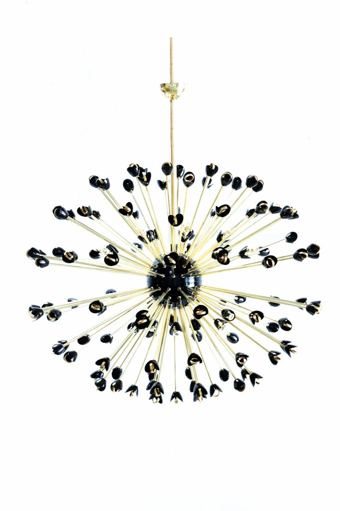 Amazing XXL chandelier in brass