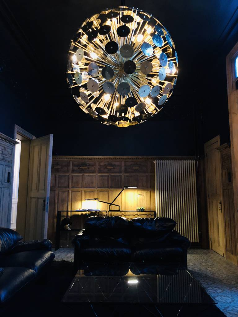 XXL Chandelier in brass