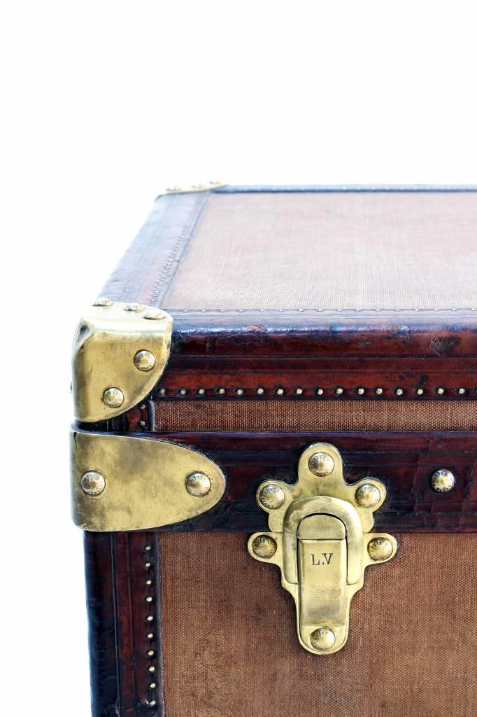 Vintage Louis Vuitton suitcase for shoes