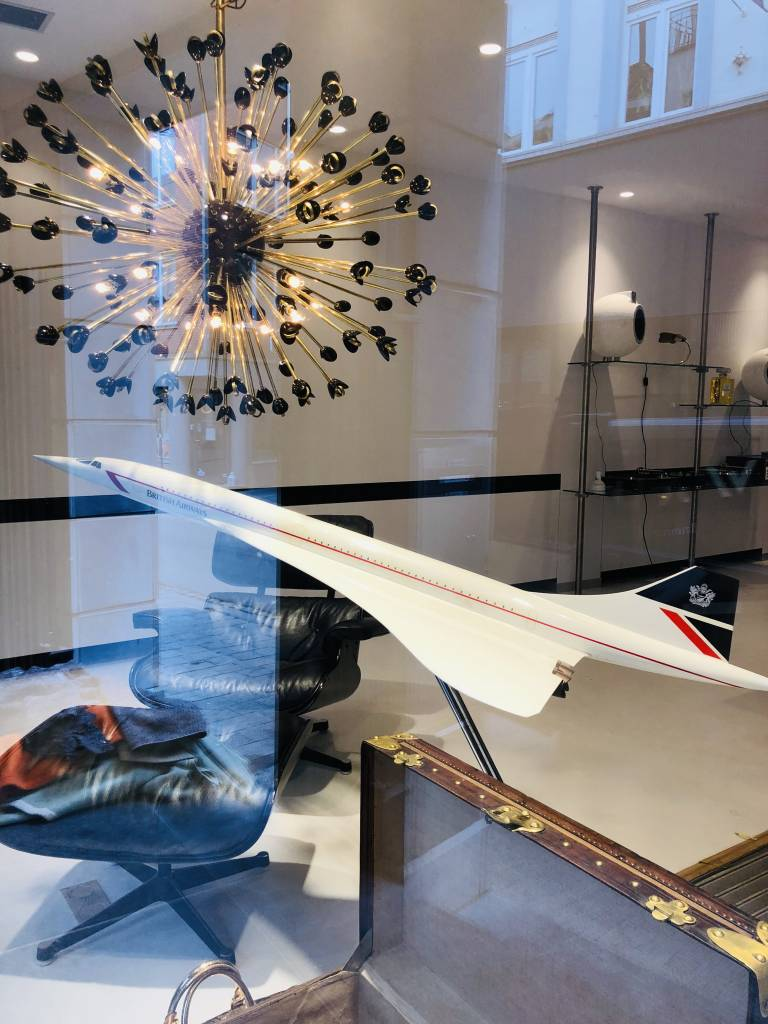 Large scale model of the Concorde aircraft