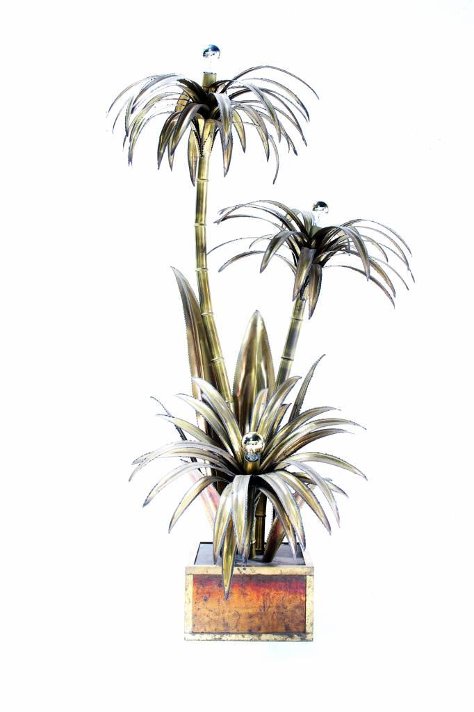 Vintage Maison Jansen palm tree lamp