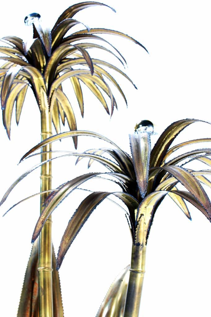 Vintage Maison Jansen palm tree lamp