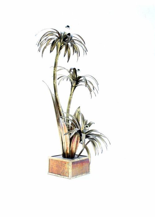 Maison Jansen palm tree lamp