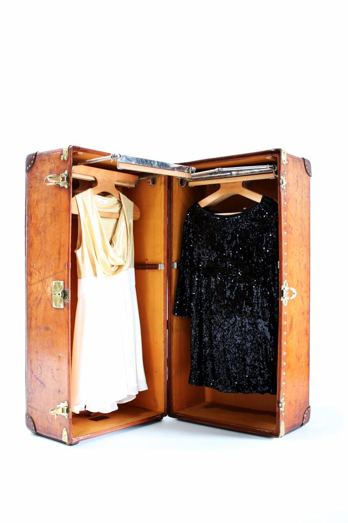 Leather Louis Vuitton wardrobe