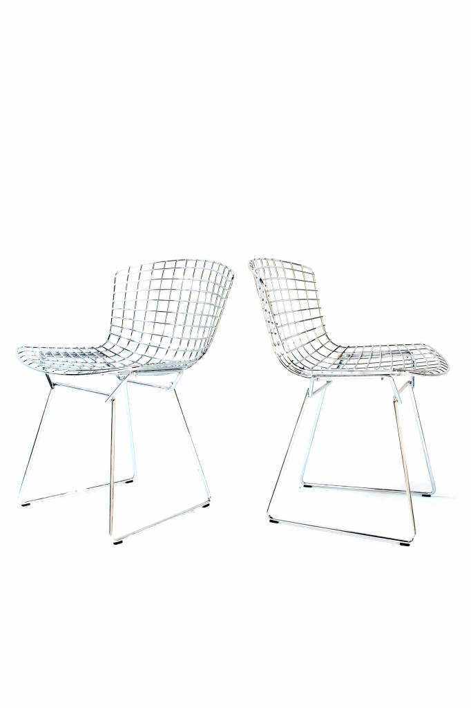 Harry Bertoia Knoll chairs chrome
