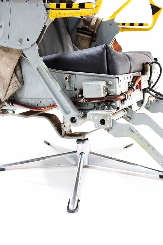 Original ejection chair of a Thunderstreak fighter plane, 1956