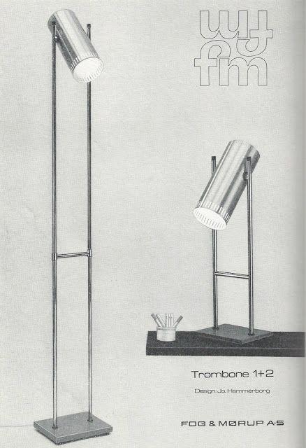 Vintage table lamp designed by Jo Hammerborg for Fog & Morup 1966