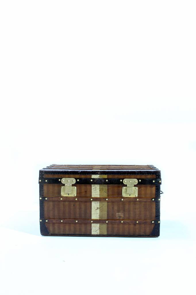 Old Louis Vuitton trunk striped