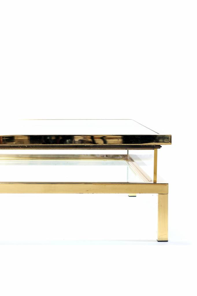 Vintage Maison Jansen sliding coffee table