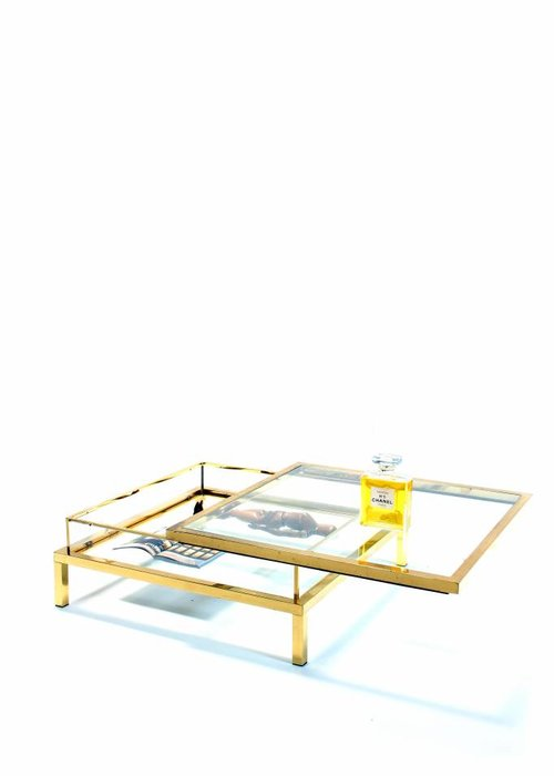Maison Jansen sliding coffee table