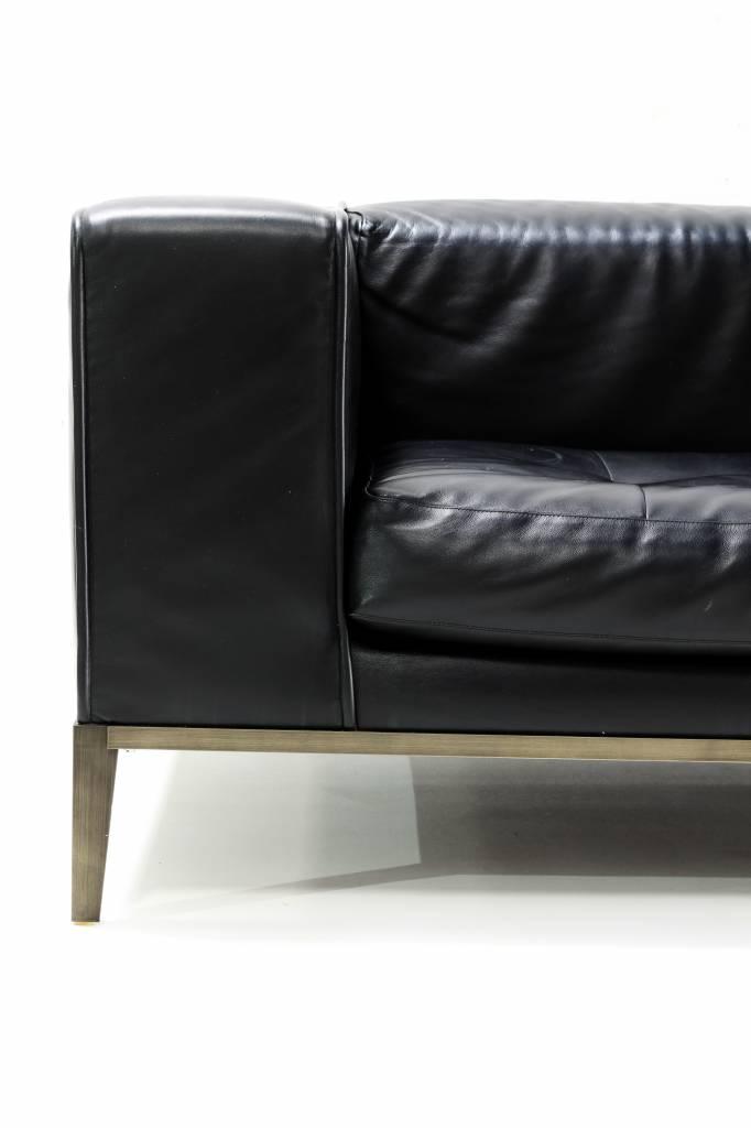 B&B Maxalto Simplex salon in zwart leder