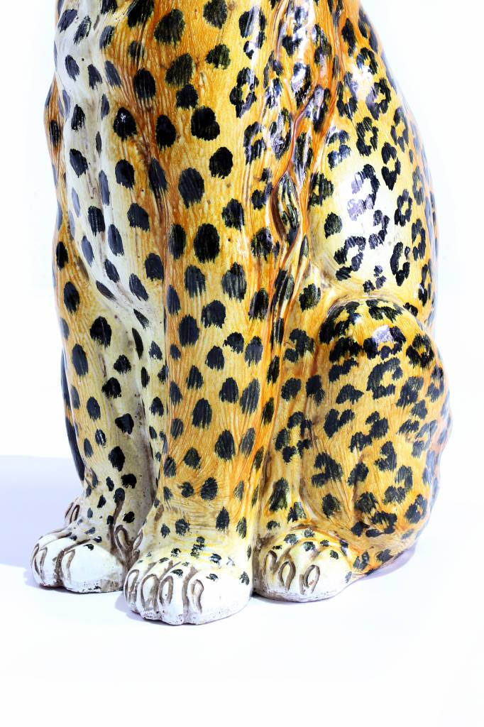 porcelain leopard 1960's