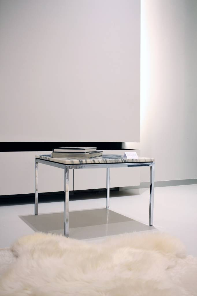 Vintage Florence Knoll square side tables marble