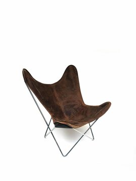 Vlinderstoel met lederen hoes