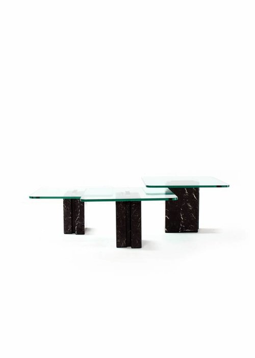 Side tables with black marble