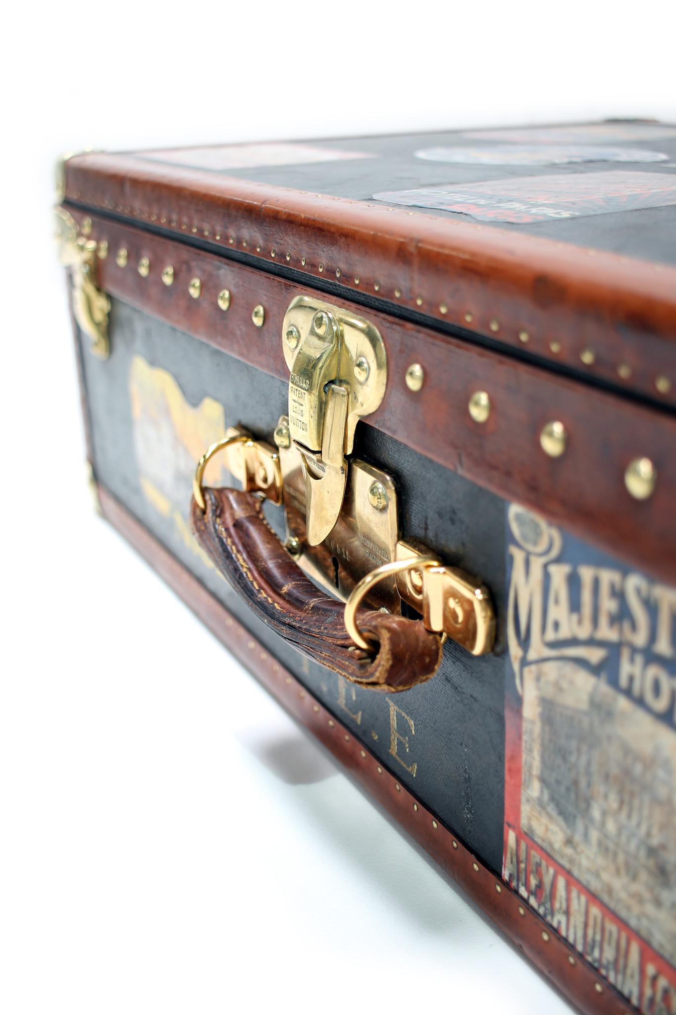Vintage Louis Vuitton travel suitcase