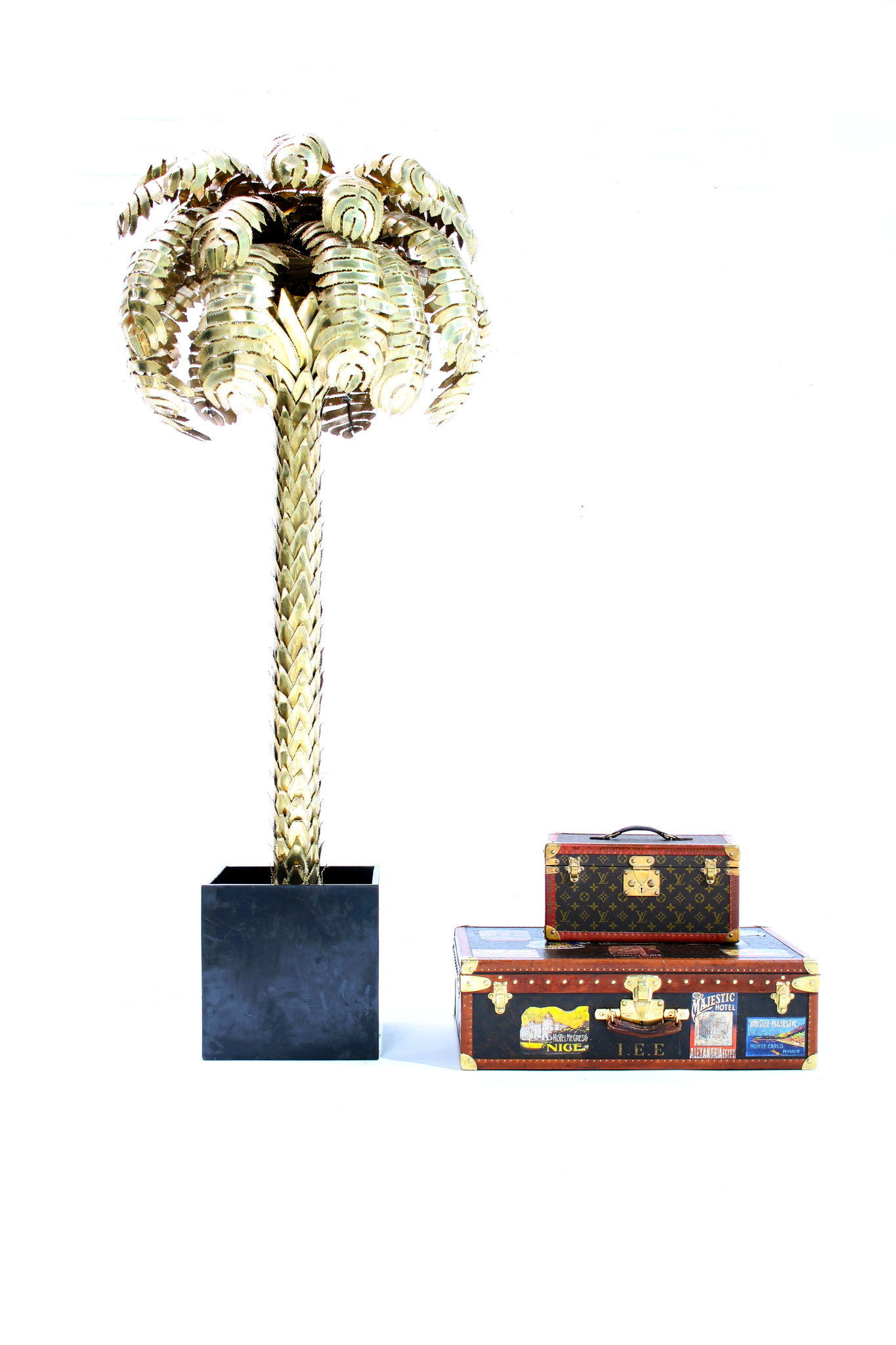 Palmboom vloerlamp door Maison Jansen