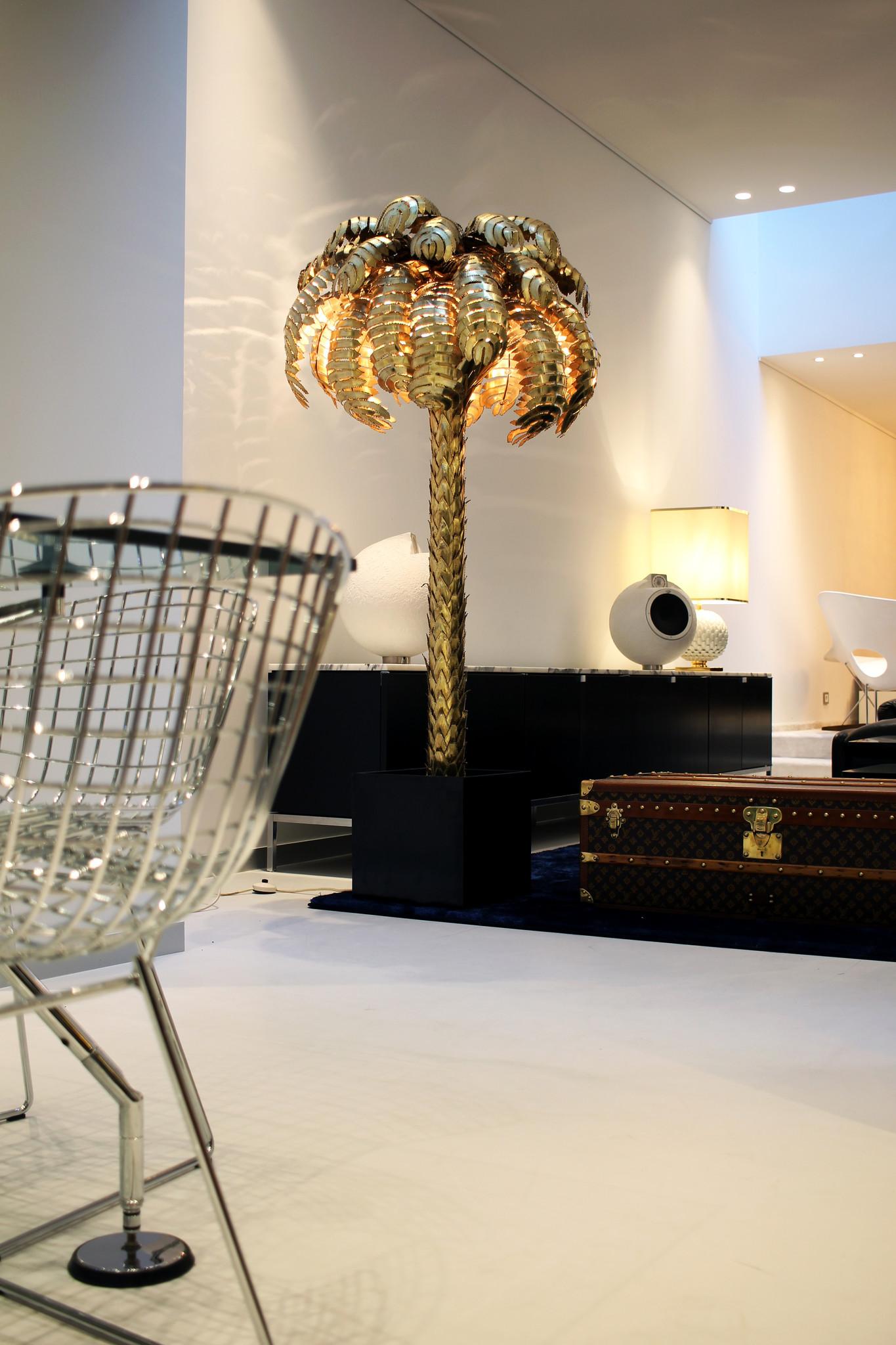 Palm tree floor lamp by Maison Jansen