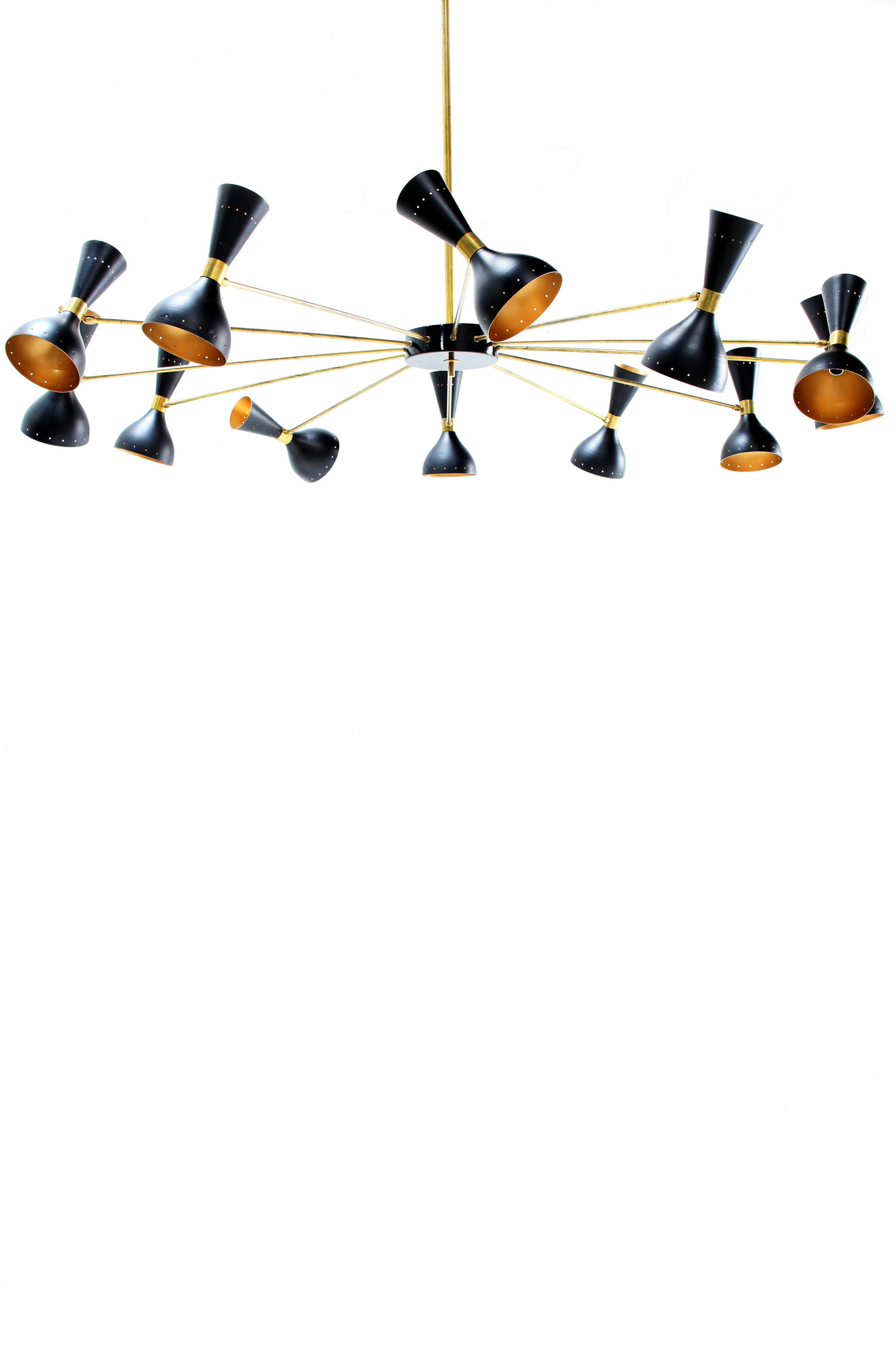 Large Italian chandelier in the style of stilnovo