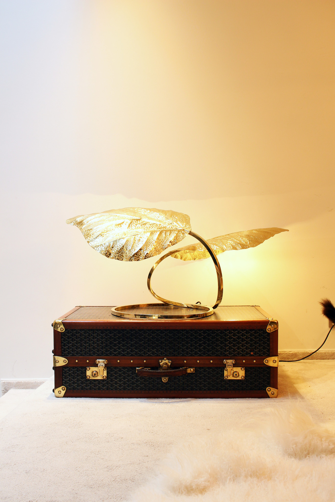 Authentic Tommaso Barbi table lamp 1970