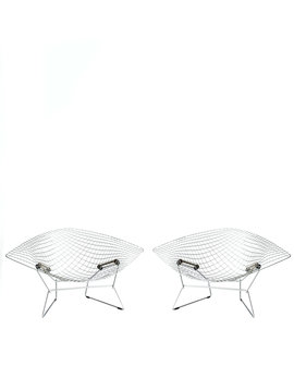 Large Bertoia Diamond chairs