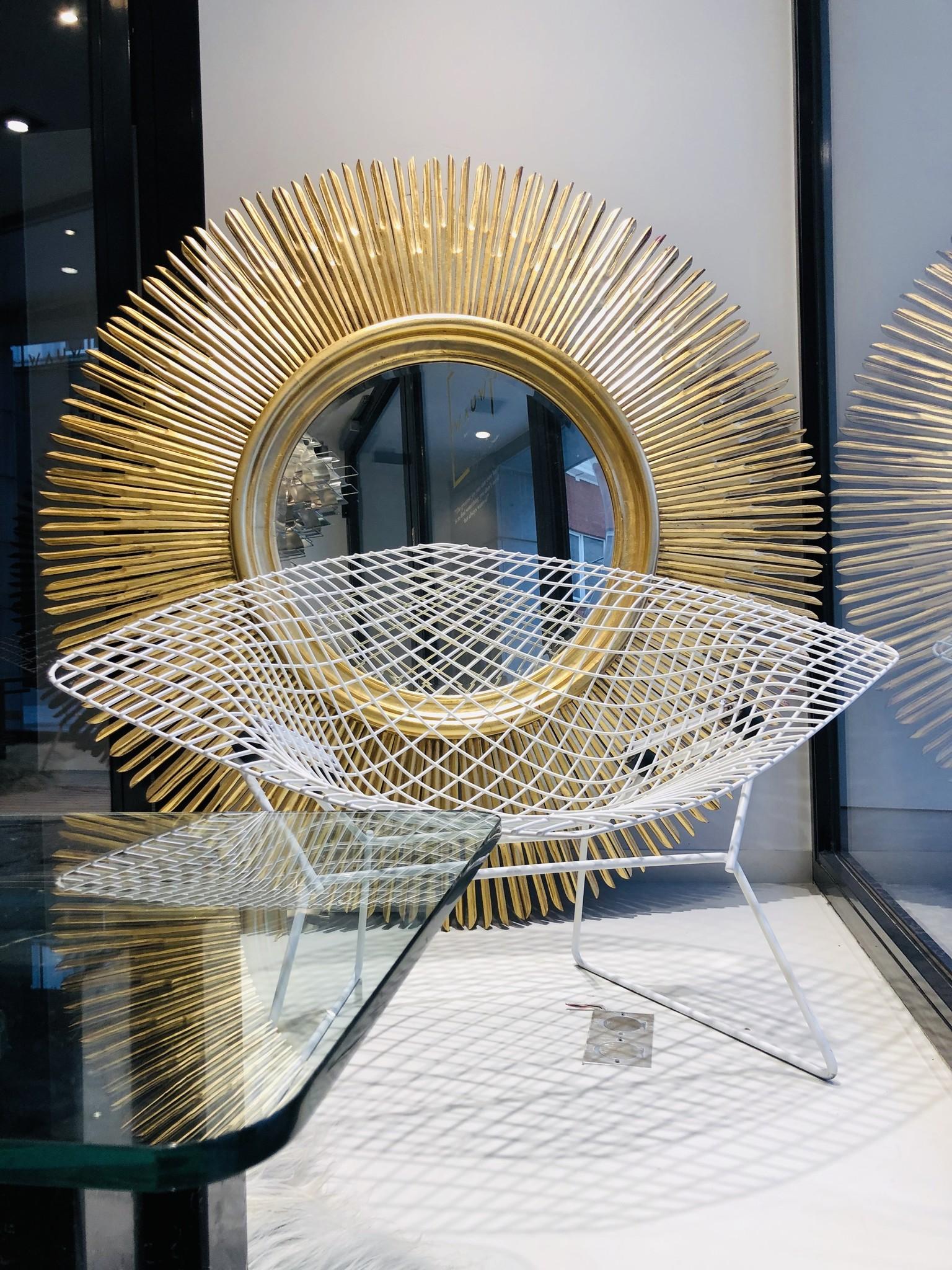 Koppel authentieke Large Bertoia Diamond chairs