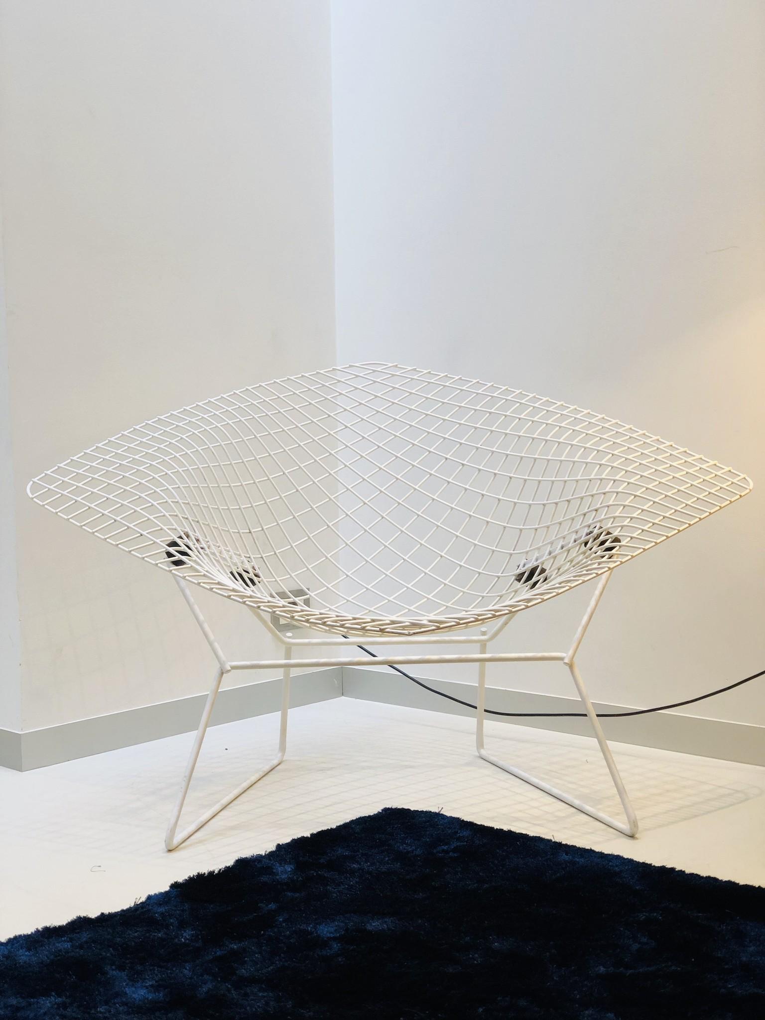 Couple authentic Large Bertoia Diamond chairs