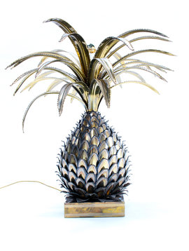 Pineapple lamp Maison Jansen