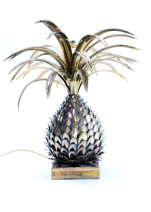 Pineapple lamp Maison Jansen