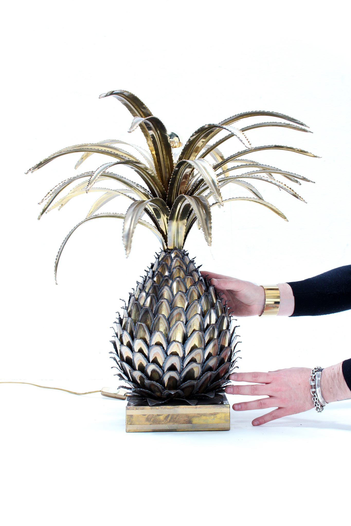Originele Maison Jansen ananas lamp 1960s