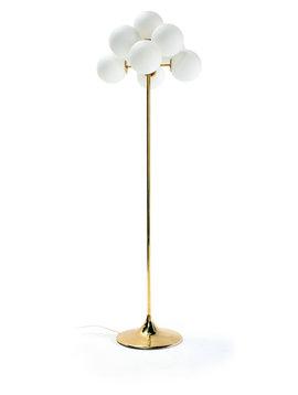 Messing vloerlamp door Max Bill