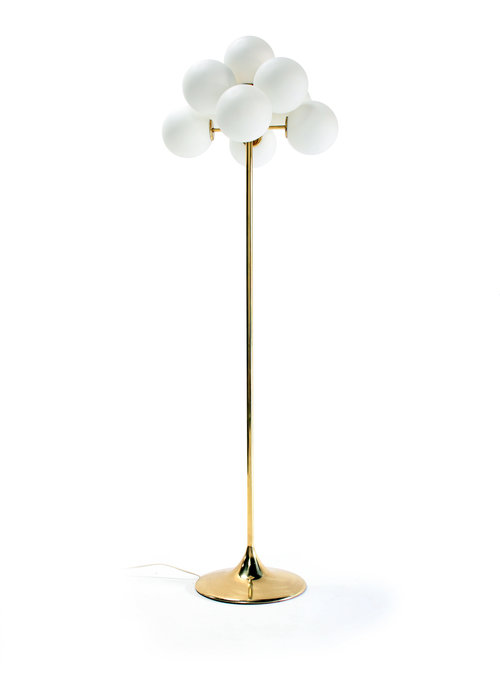 Brass floor lamp by Max Bill