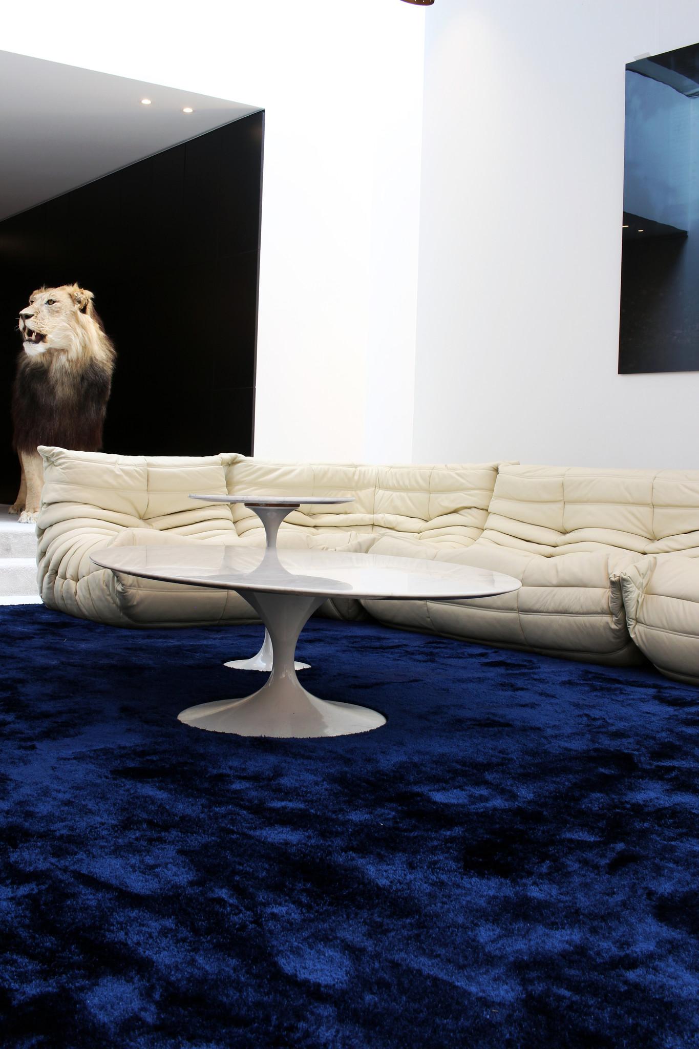 """Lederen """"Togo"""" salon set door Michel Ducaroy voor Ligne Roset"""
