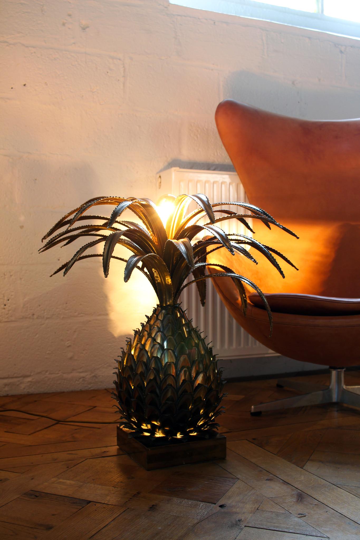 Original Maison Jansen pineapple lamp 1960s