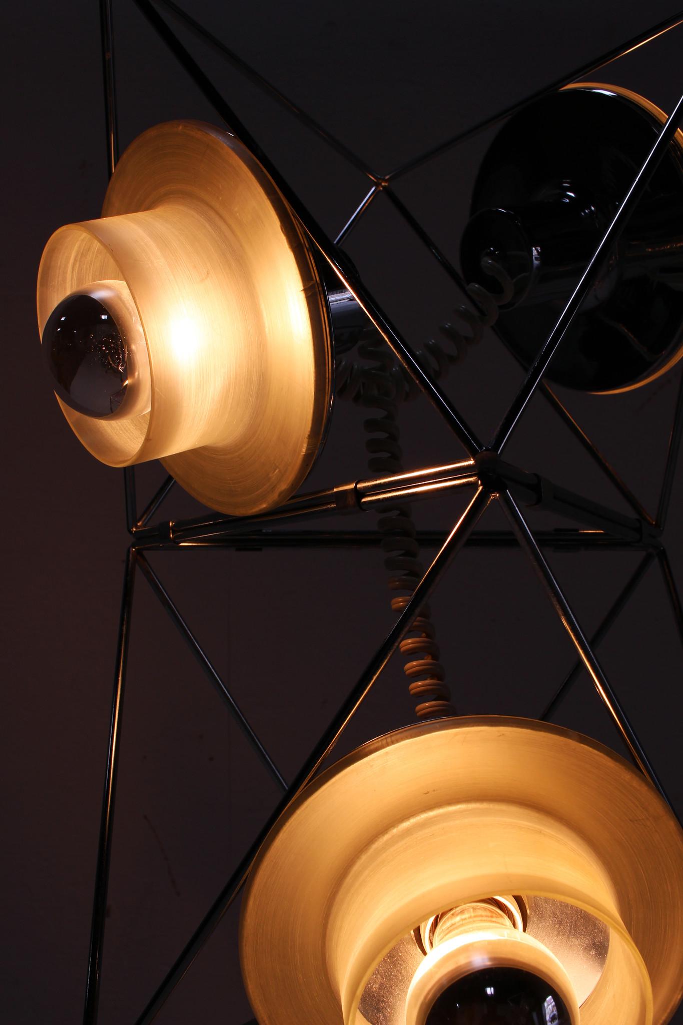 Modular floor lamp by Felice Ragazzo for Guzzini 1969