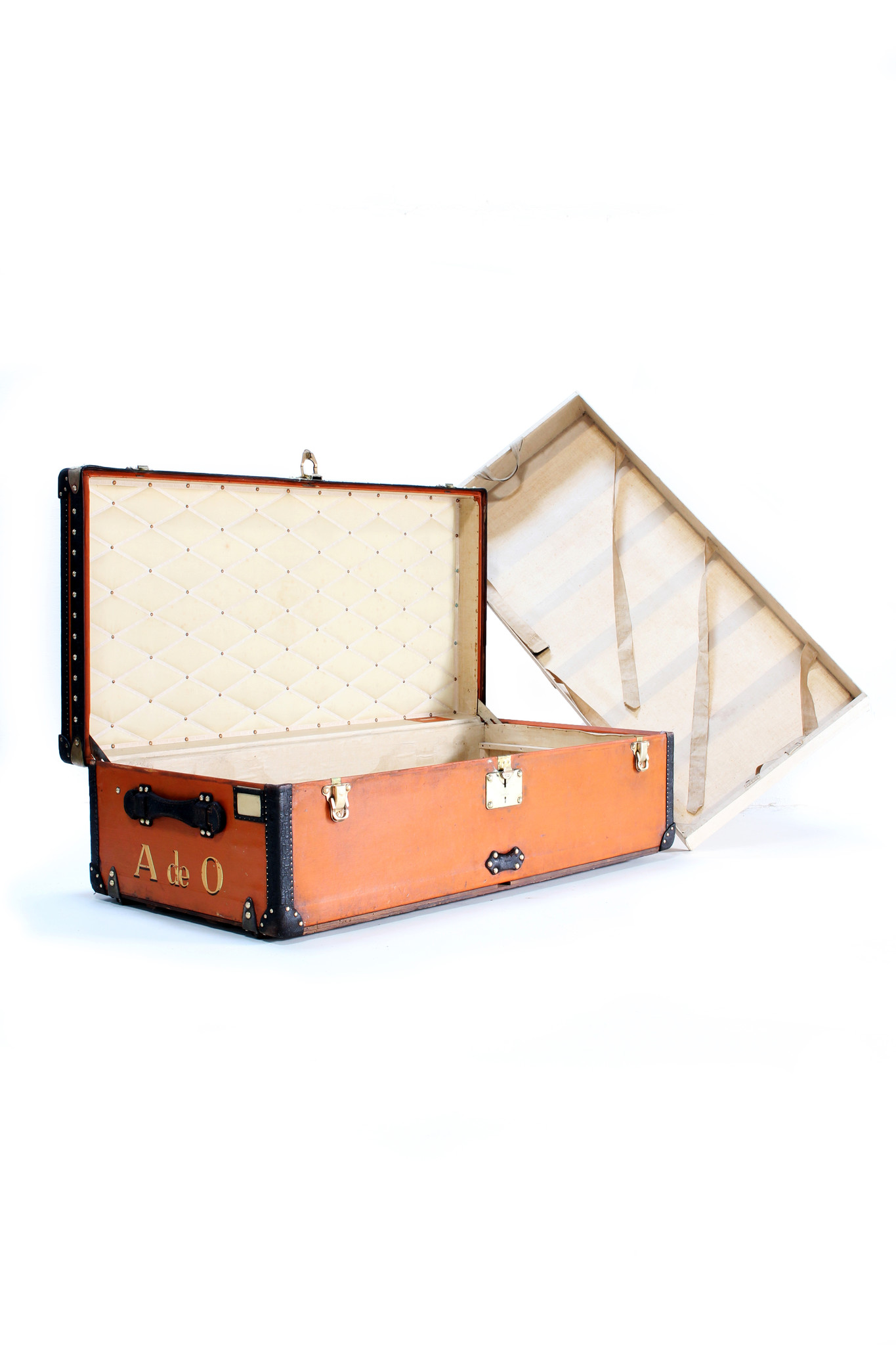 Louis Vuitton trunk malle cabine I Lovely orange