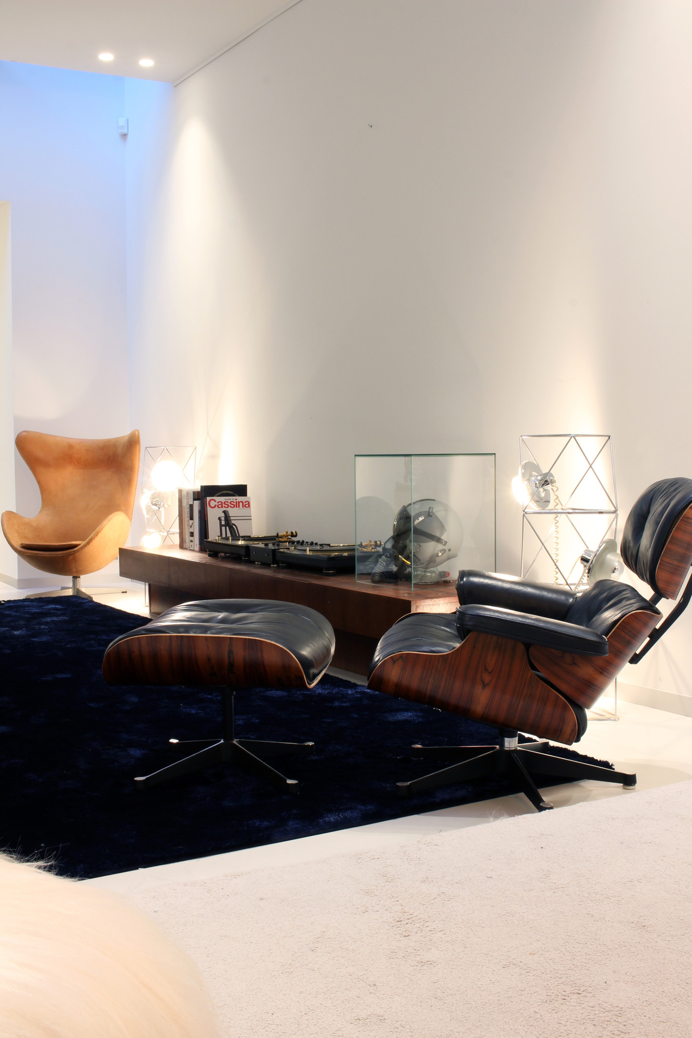 Eames Lounge chair with pouffe by Charles & Ray Eames