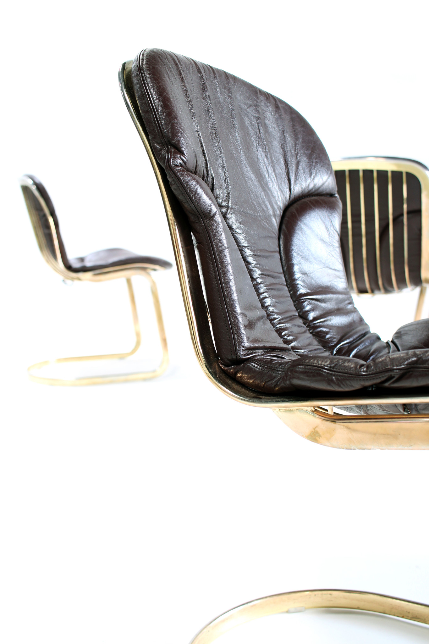 Vintage Italiaanse design stoelen by Willy Rizzo for Cidue