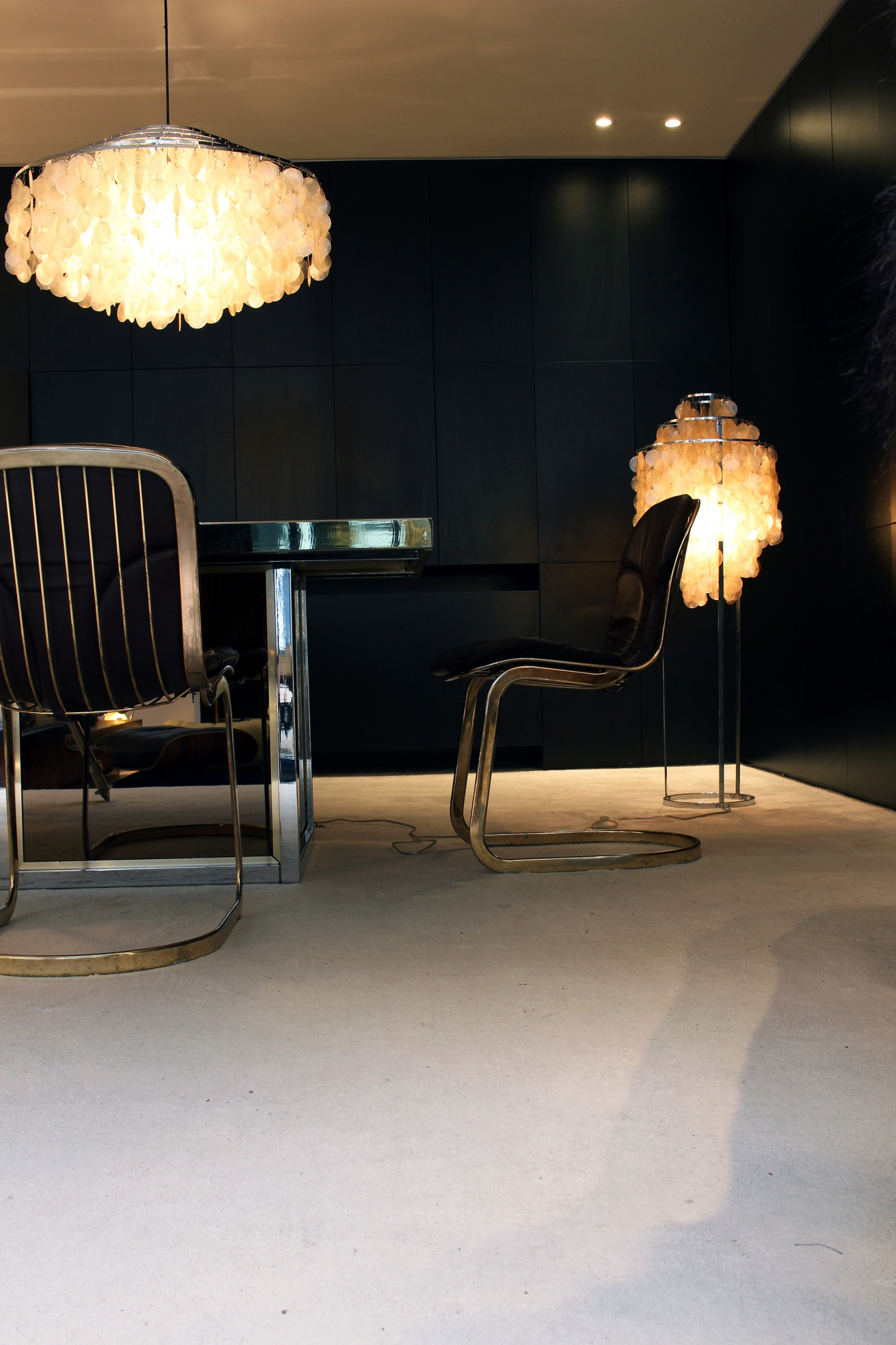 Vintage Italian designer chairs by Willy Rizzo for Cidue