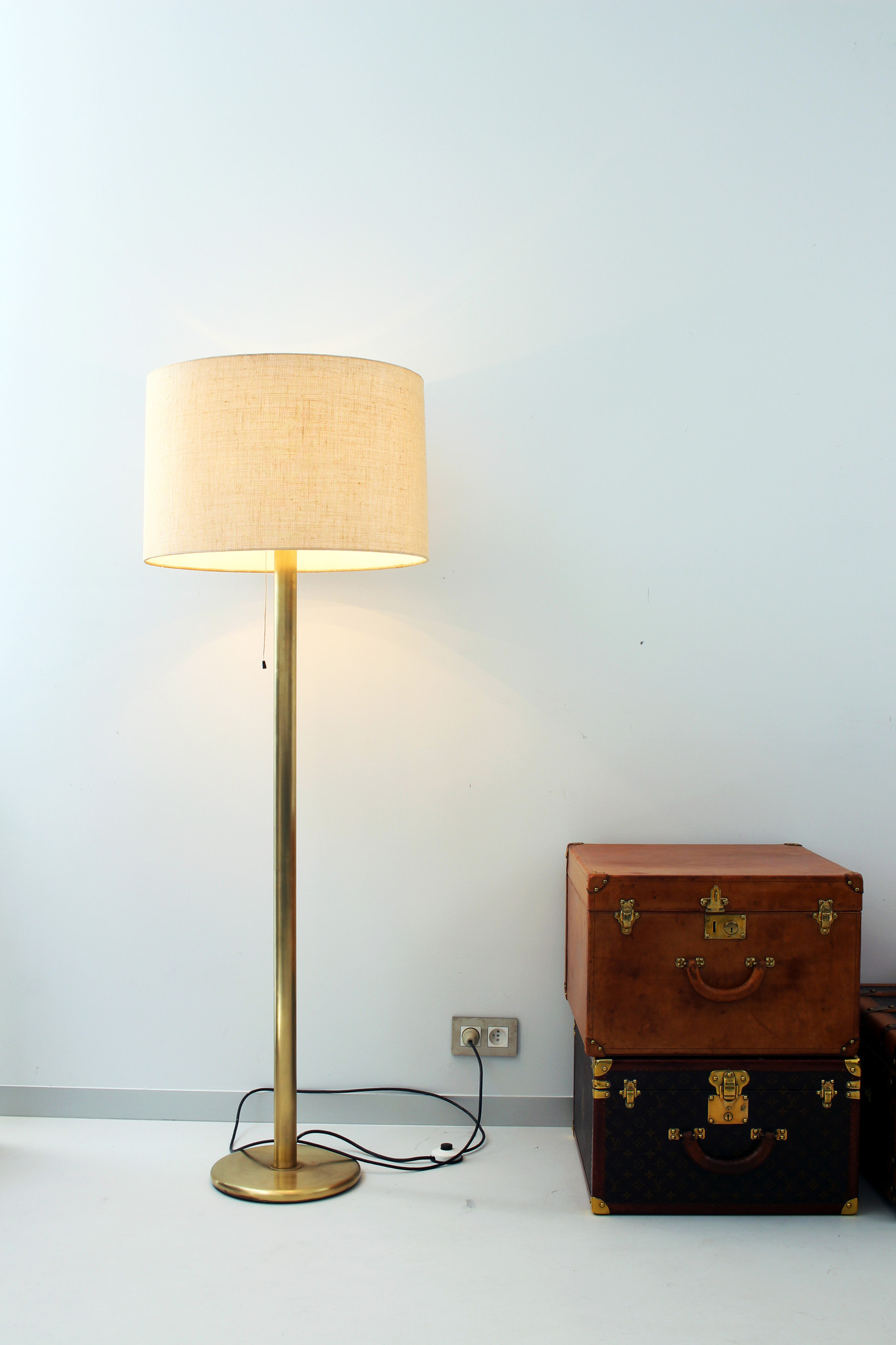 Pair of vintage brass floor lamps from the 1970s
