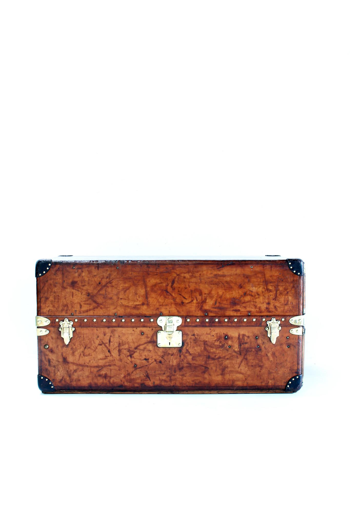 Lederen Louis Vuitton garderobe koffer, 1920's