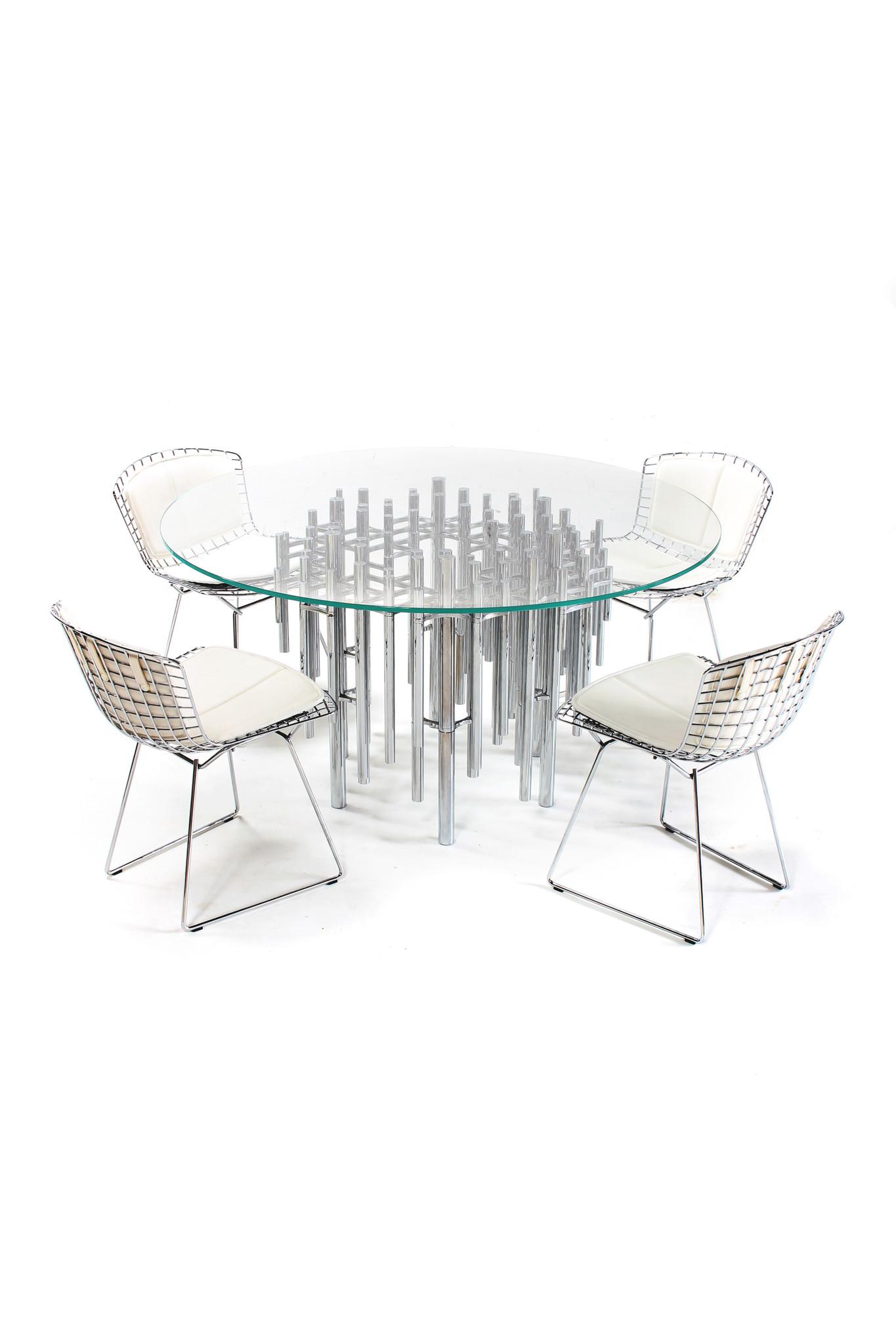 4 Bertoia seats by Harry Bertoia for Knoll