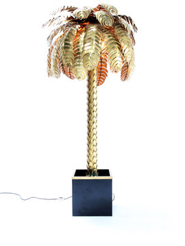 XXL Maison Jansen palm tree lamp